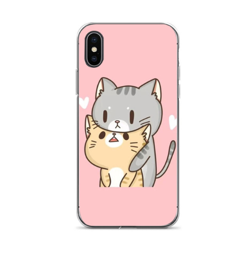 Girls Capa 7 plus Cute cat Diy Printing Drawing phone case For iphone 6 6s 7 7plus 8 8plus X xs xr XS Max cses-105